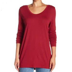 NEW Abound Everyday Scoop Neck Long Sleeve T-Shirt
